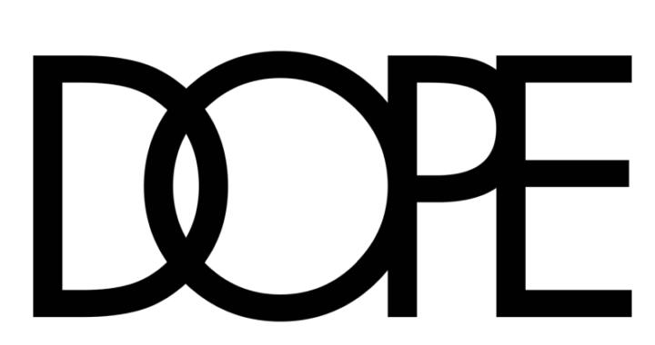 アイテムを際立てるDOPEロゴが織りなす独創的なデザイン「DOPE(ドープ)」